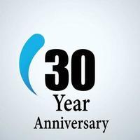 Vetor de logotipo de aniversário de 30 anos