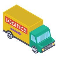 van de entrega logística vetor