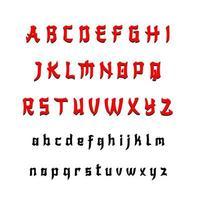 fonte do alfabeto chinês moderno de a a z vetor