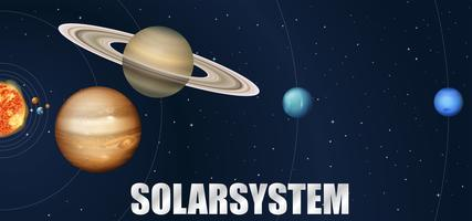 Um projeto de sistema solar de astronomia vetor