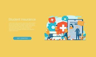 modelo de design de ilustração vetorial de seguro saúde vetor