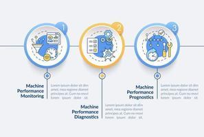 modelo de infográfico de vetor de tarefas duplas digitais