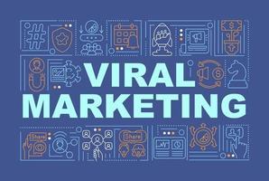 banner de conceitos de palavras de marketing viral vetor