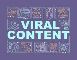 banner de conceitos de palavras de conteúdo viral vetor