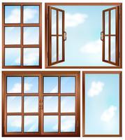 Projetos de janelas diferentes vetor