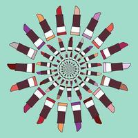 ilustração em vetor rótulo batom colorido