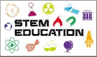 Design de pôster para educação sobre o caule vetor