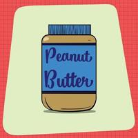 um grande pote de manteiga de amendoim. vetor