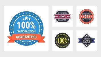 conjunto de selos de satisfação do cliente vetor