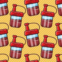 ilustração em vetor padrão sem emenda de garrafa de molho de soja