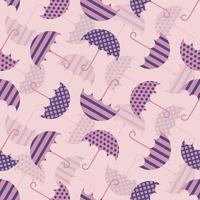padrão sem emenda com guarda-chuvas rosa e roxos vetor