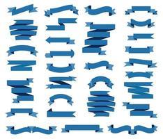 fitas azuis, conjunto de bandeirolas vetor