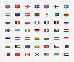 bandeiras nacionais do mundo vetor