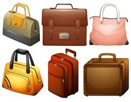 Diferentes tipos de sacos vetor