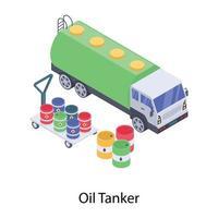 petroleiro de armazenamento de óleo vetor
