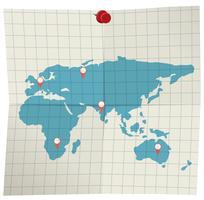 Um mapa no fundo branco vetor