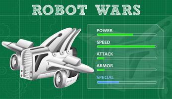 Guerras de robôs com características especiais vetor