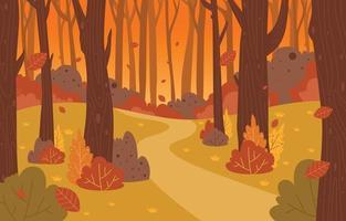 fundo do cenário da temporada de outono vetor