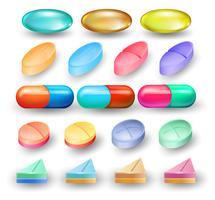 Um conjunto de remédio misto vetor
