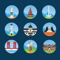 ícones de referência indonésio vetor