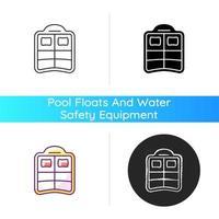 ícone de piscina dupla flutuante vetor