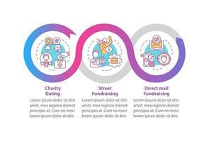modelo de infográfico de vetor de atividades filantrópicas