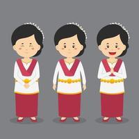 personagem da maluku norte com várias expressões vetor