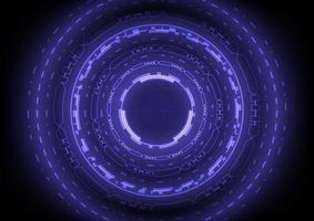 fundo abstrato. tecnologia de realidade virtual. círculo hud futurista vetor