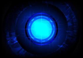 abstrato base de alta tecnologia. realidade virtual. sci-fi hud brilhante vetor