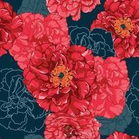 buquê de rosas vermelhas sem costura padrão vetor