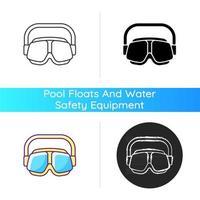 ícone de óculos de natação vetor