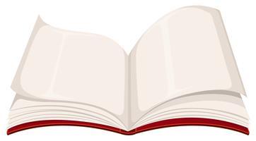 Um livro aberto em branco vetor