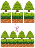 Elemento do jogo na cena do jardim vetor