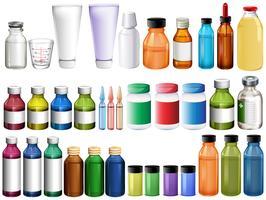 Medicina em garrafas e tubos vetor