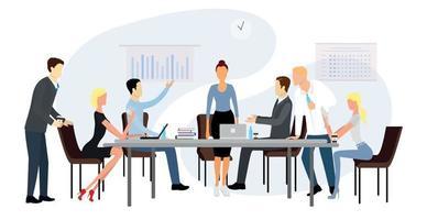 apresentação comercial do desempenho financeiro para a equipe - vetor
