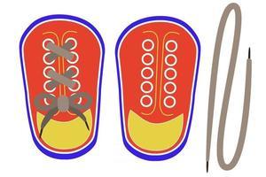 cadarços de sapatos de brinquedo brinquedo montessori vetor