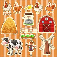 Design da etiqueta para animais de fazenda vetor