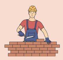 engenharia e construção profissional vetor