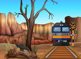Passeio de trem pelos canyons vetor