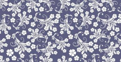 ilustração de cachos de decoração floral. ornamento vintage, padrão. vetor