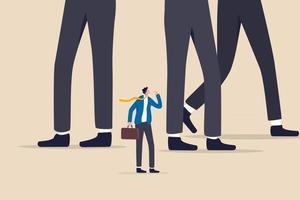 empresário ou pequena empresa para lutar com a grande empresa. vetor