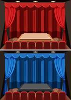 Um conjunto de fundo de palco vazio