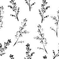 Padrão sem emenda botânica abstrata. Fundo à base de plantas do vetor.