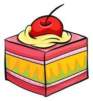 Pedaço de bolo colorido vetor
