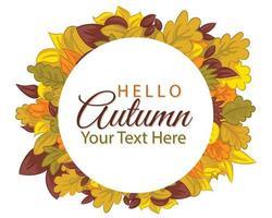 mão desenhada fundo bonito do outono. elemento de design para cartões comemorativos vetor