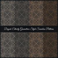 dayak ethicity geometrics style seamless patterns vetor