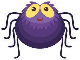 Aranha roxa com cara feliz vetor