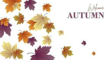 ilustração de fundo de outono vetor
