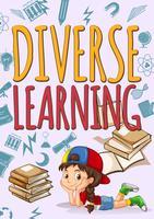 Menina com aprendizagem diversificada vetor