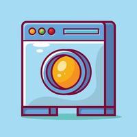 ilustração dos desenhos animados isolada da máquina de lavar em estilo simples vetor